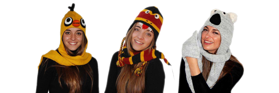 Animal Hats with Scarf